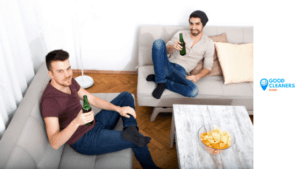 Get a cleaning service and have a great relationship with your roommates